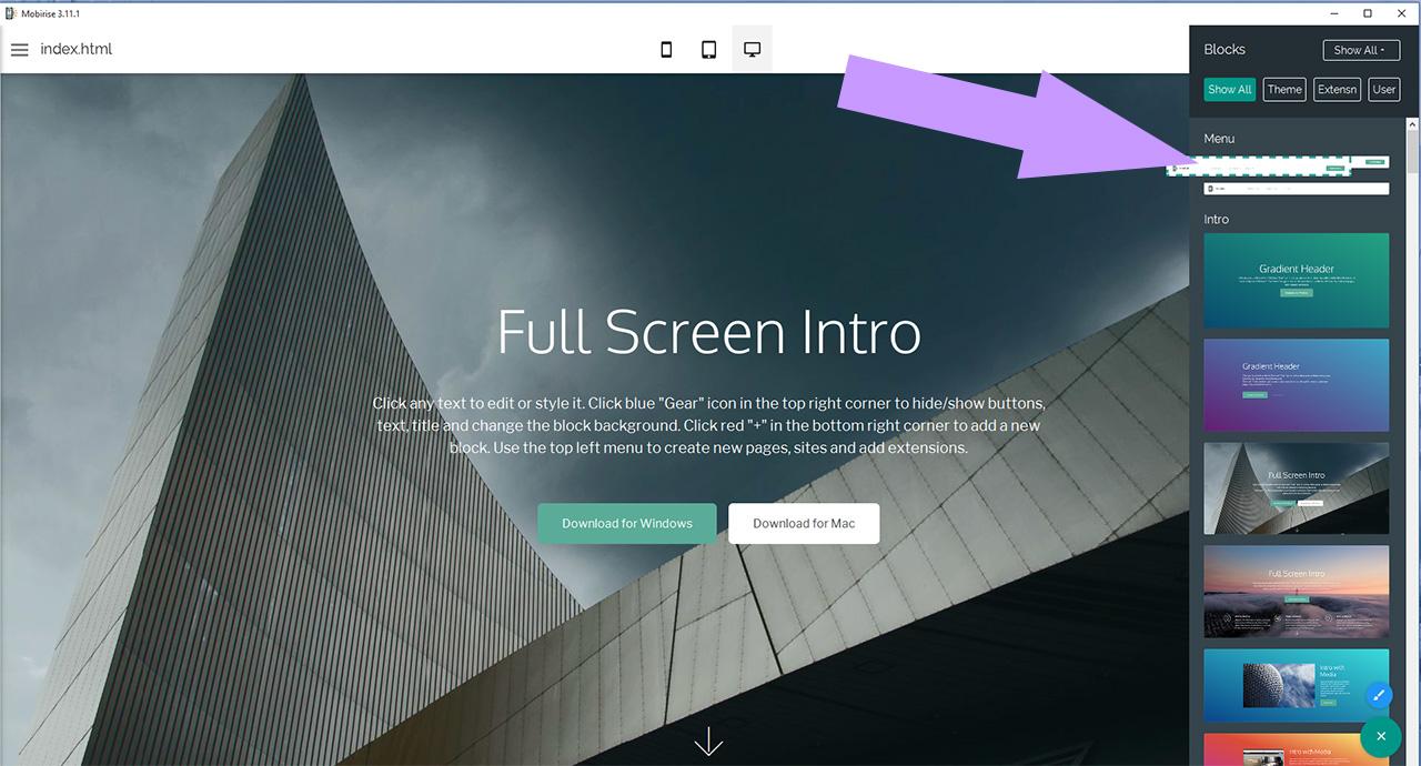 make a menu online free
