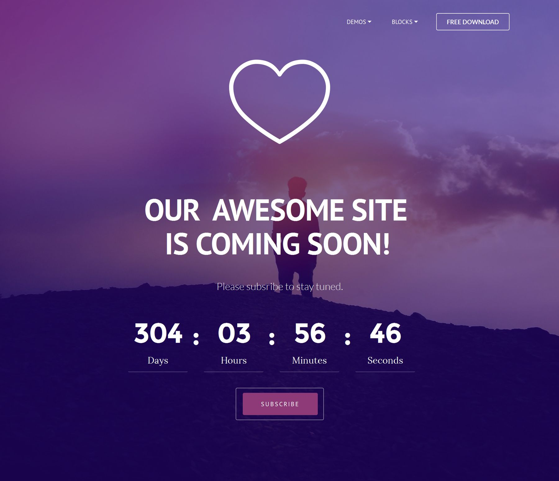 Bootstrap Coming Soon  Templates