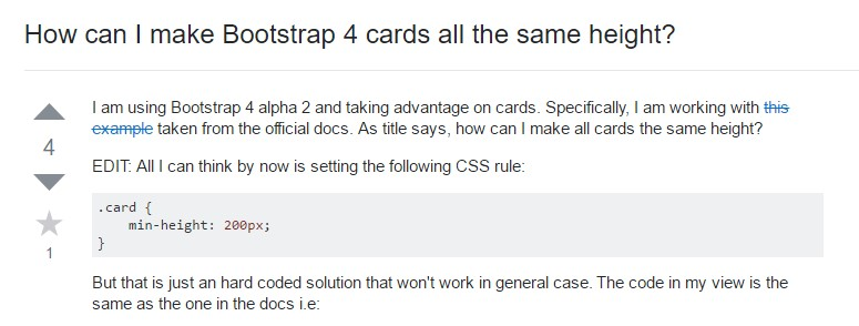 Insights on  precisely how can we  create Bootstrap 4 cards just the  exact same  height?