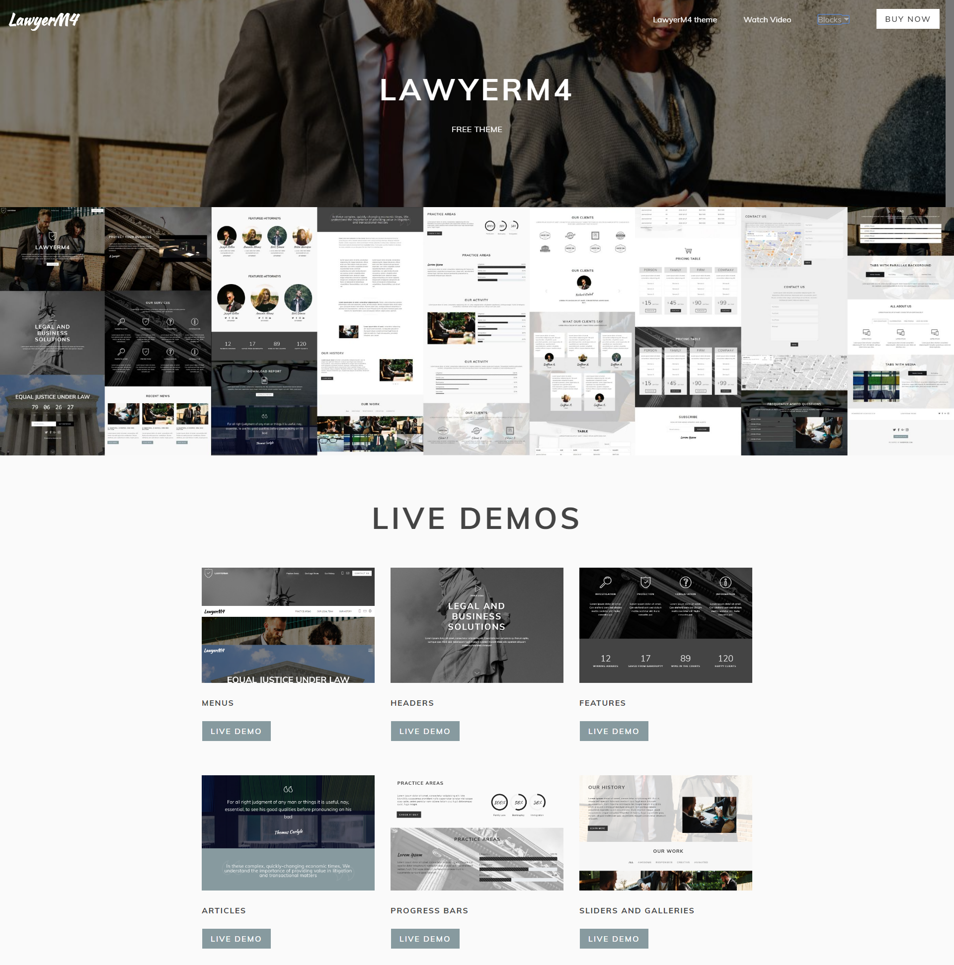 CSS3 Bootstrap LawyerM4 Themes