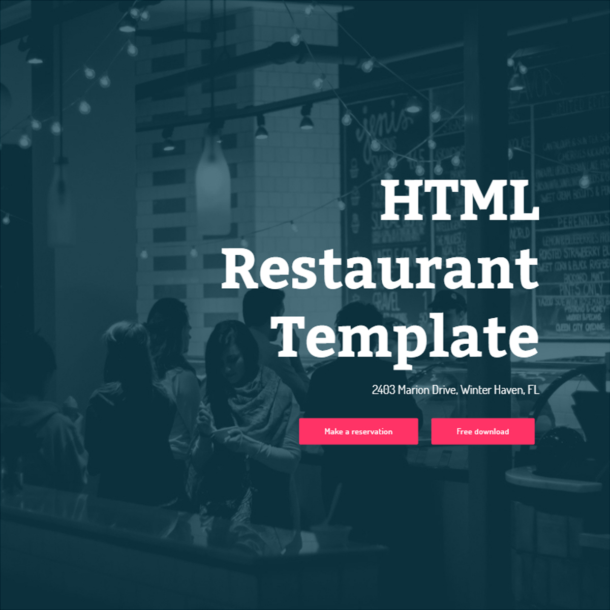 Free Bootstrap Restaurant Templates
