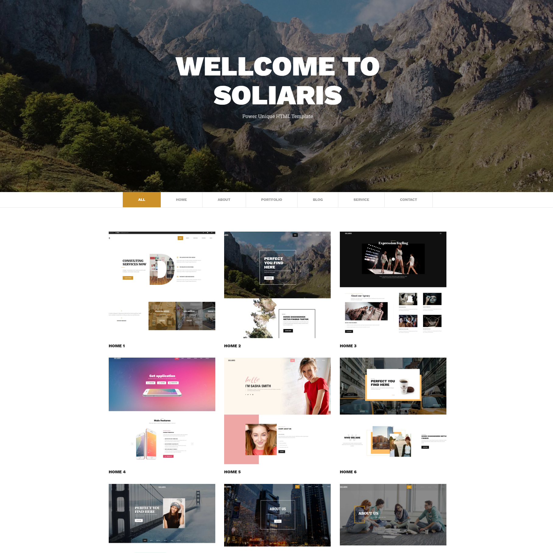 CSS3 Bootstrap Soliaris Templates