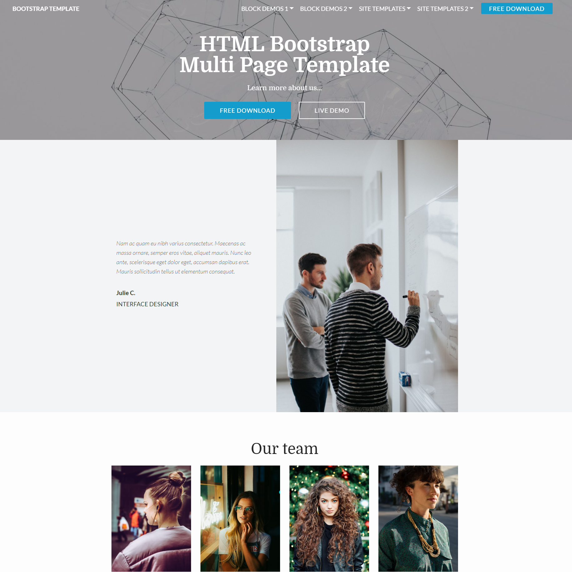 30 excellent free html5 bootstrap templates 2018 html bootstrap multi page templates free theme download accmission Image collections