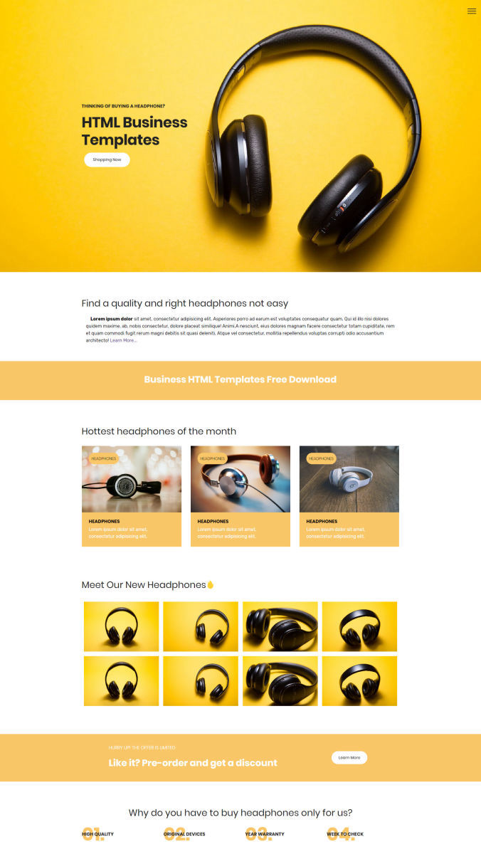 Bootstrap Website Templates